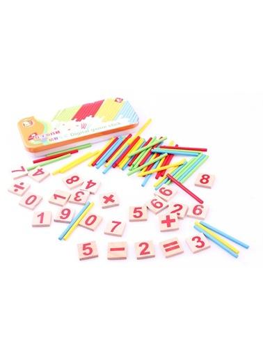 Metal Kutuda Ahşap Sayı ve Çubuk Seti-Learning Toys